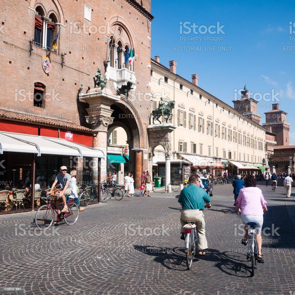 Ferrara cityscape royalty-free stock photo