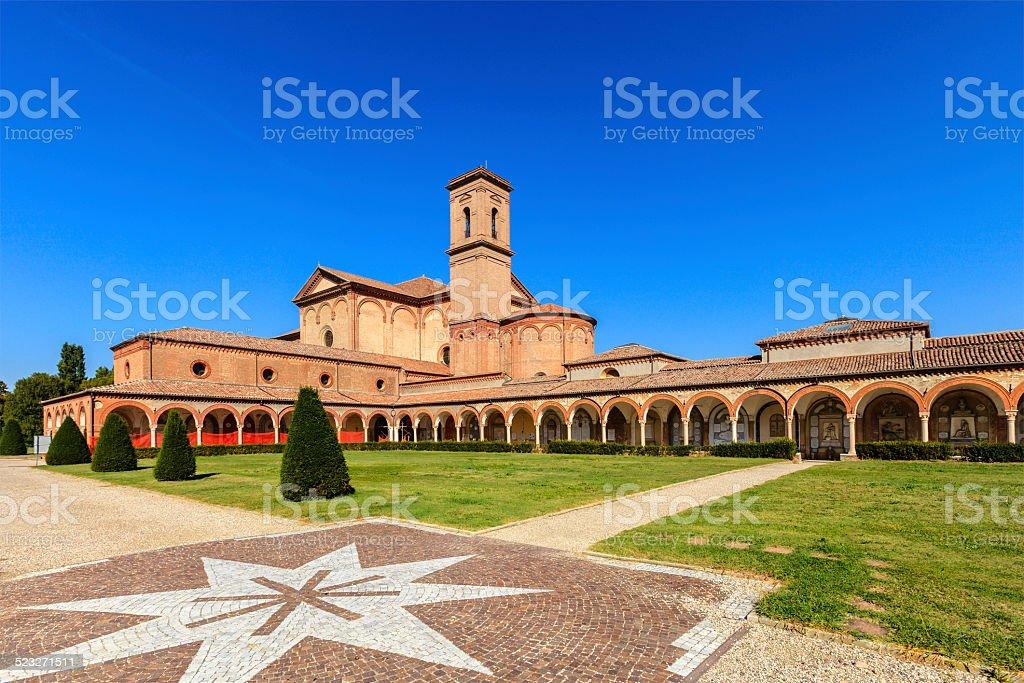 Ferrara, Monumental Cemetery of Certosa stock photo