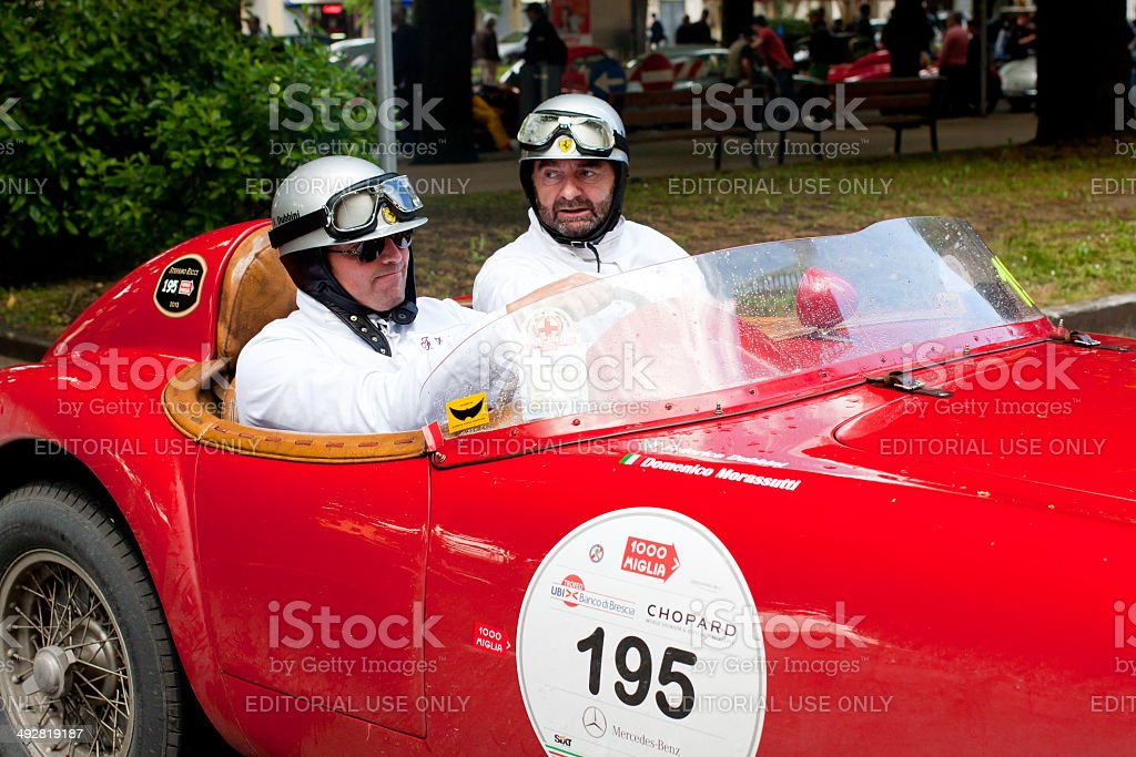 Ferrari 212 export at Mille Miglia 2013 stock photo