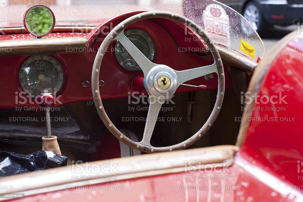 Ferrari 212 export detail at Mille Miglia stock photo