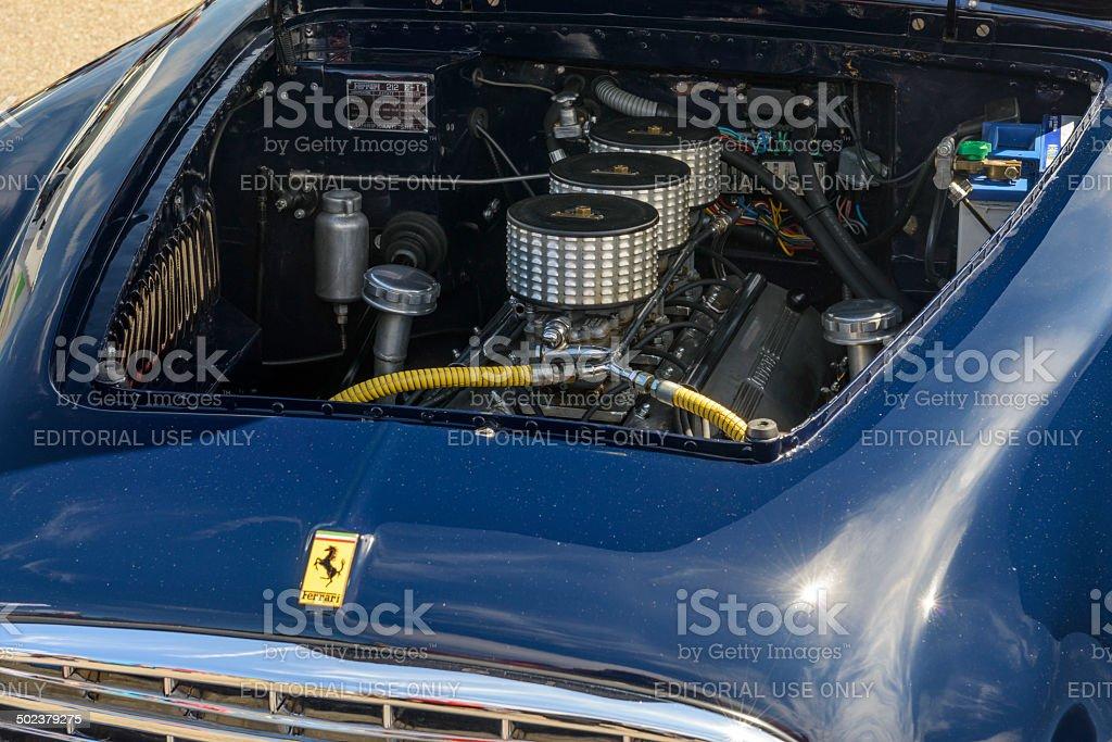 Ferrari 212 Inter engine stock photo