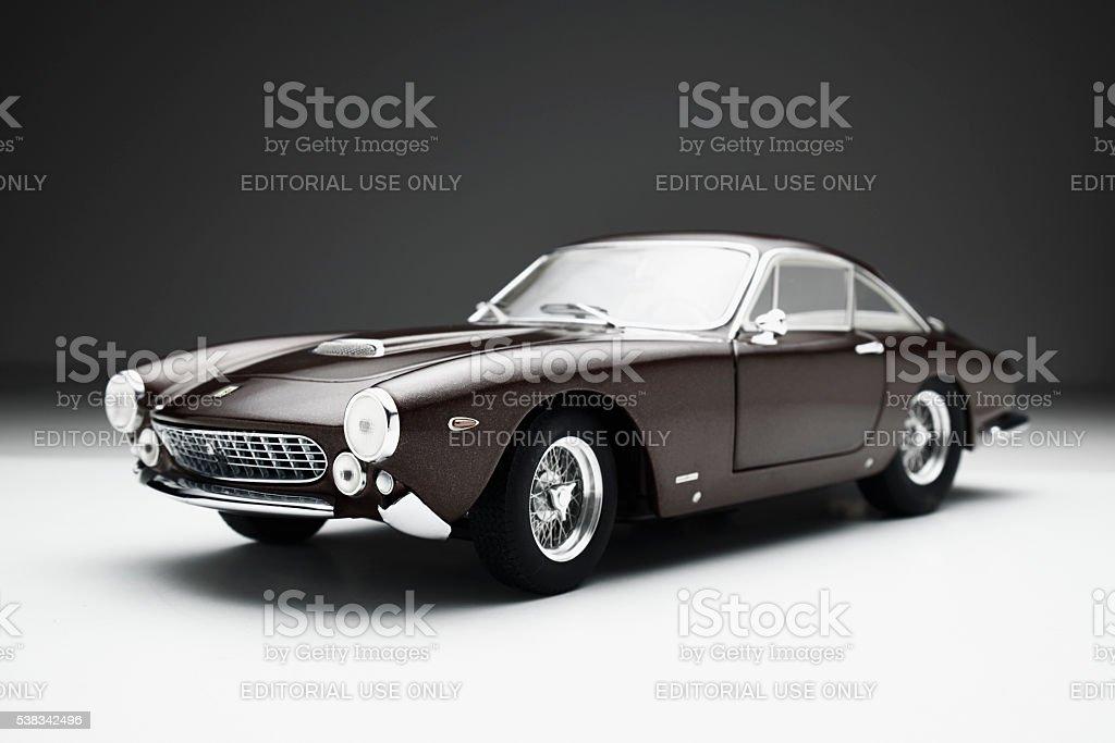 Ferrari 250 GT Lusso Model Car Low Key stock photo