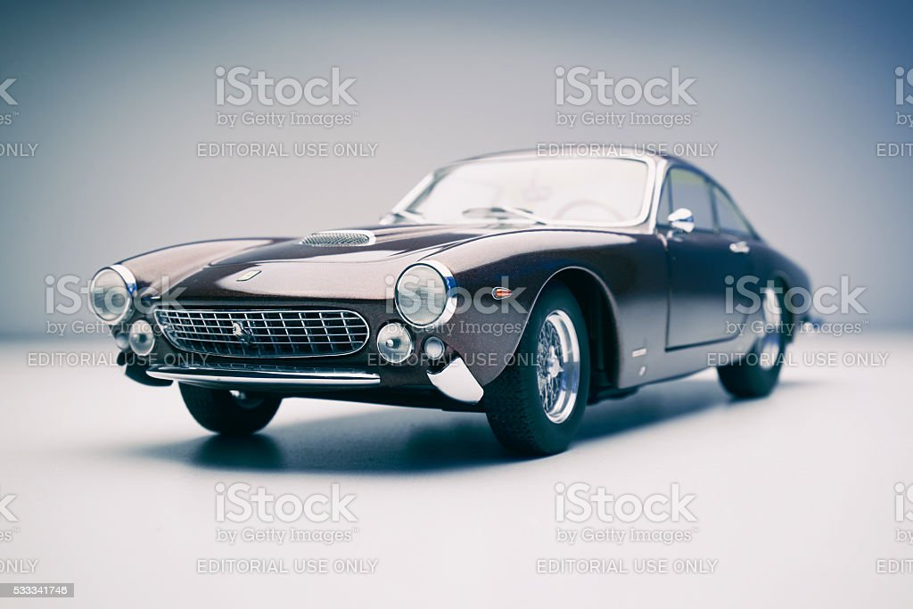 Ferrari 250 GT Lusso Model Car On White stock photo