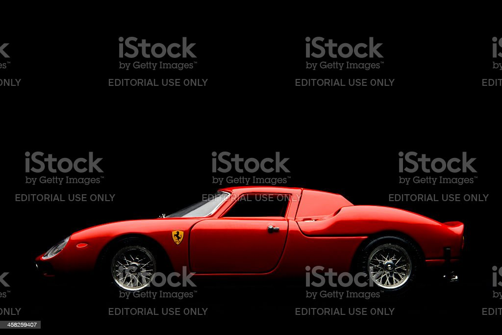Ferrari 250 LM model car stock photo