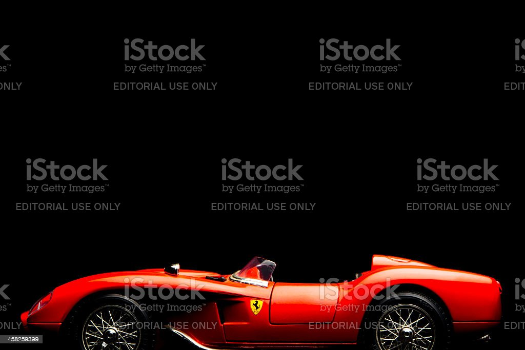 Ferrari 250 Testarossa model car stock photo