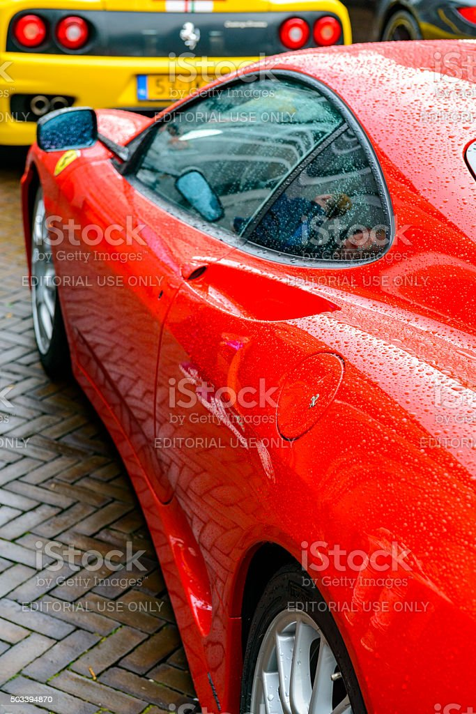 Ferrari 360 Modena Challenge Stradale sports car rear view stock photo