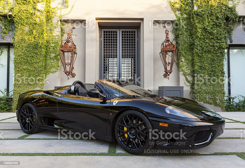 Ferrari 360 Spyder stock photo