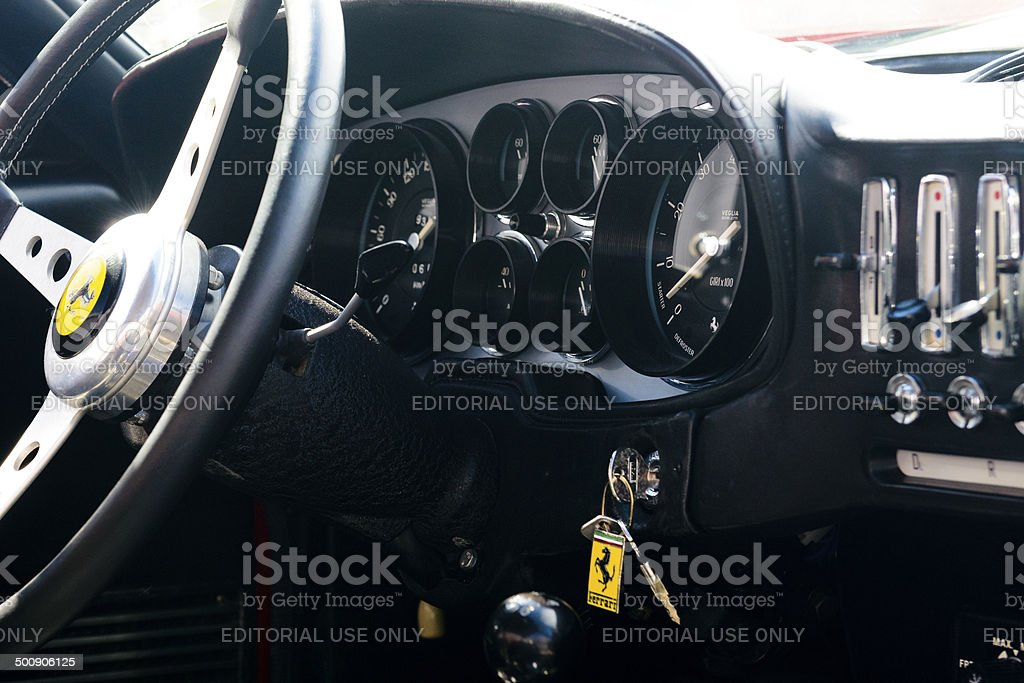Ferrari 365 GTB Daytona interior stock photo