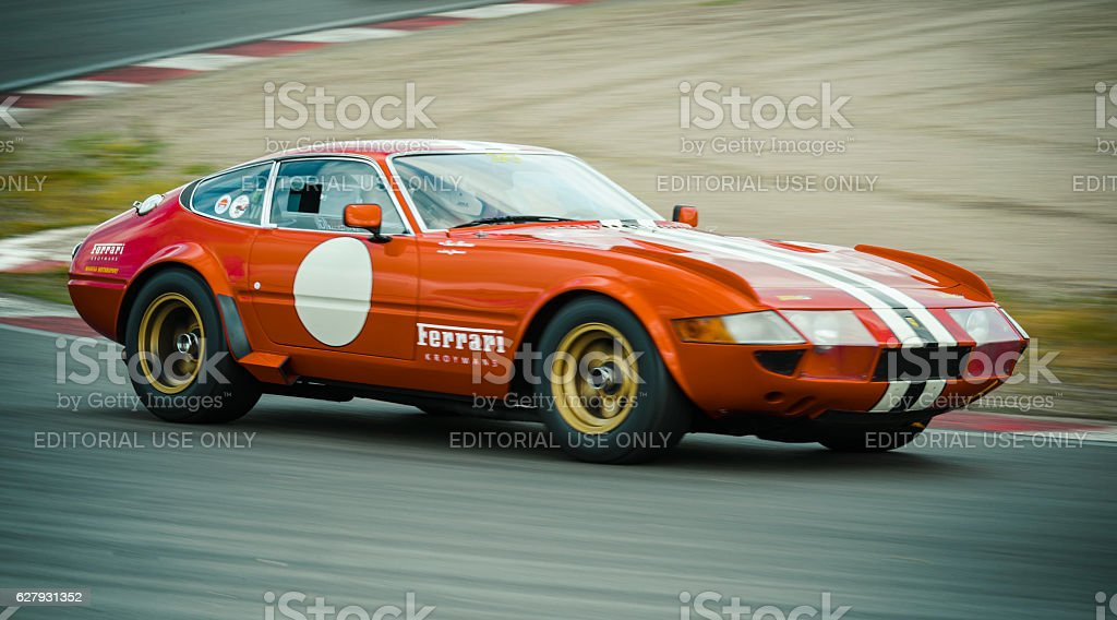 Ferrari 365 GTB/4 Daytona classic 1970s race car stock photo