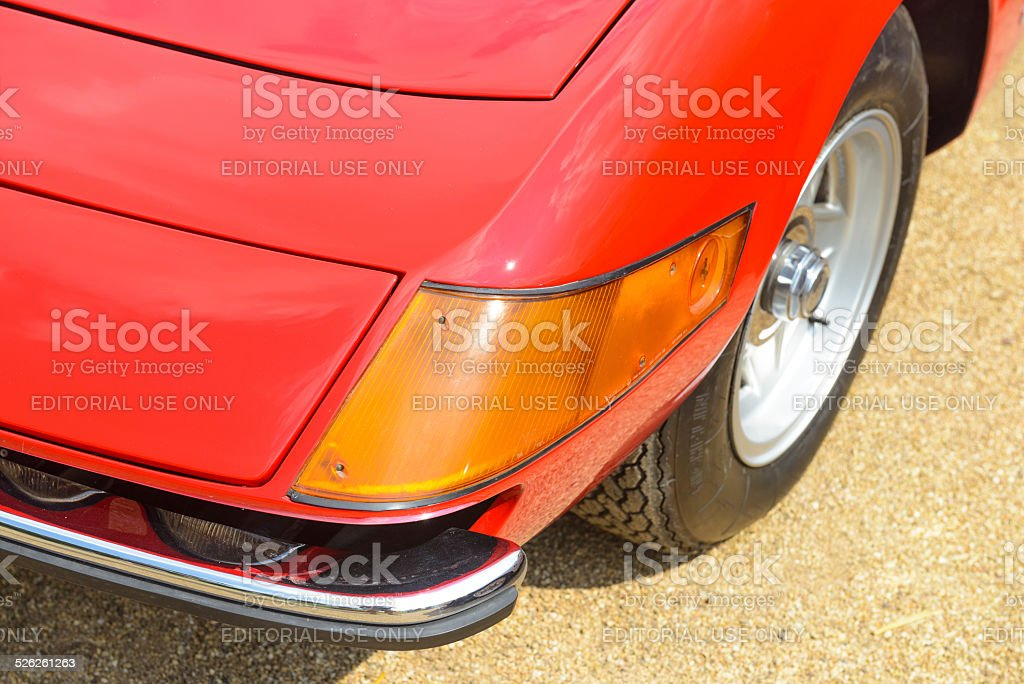 Ferrari 365 GTB/4 Daytona classic Italian sports car front detail stock photo