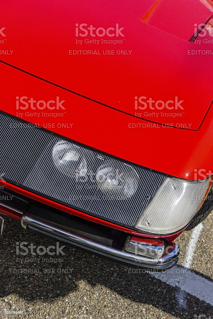 Ferrari 365 GTB/4 Daytona headlight stock photo