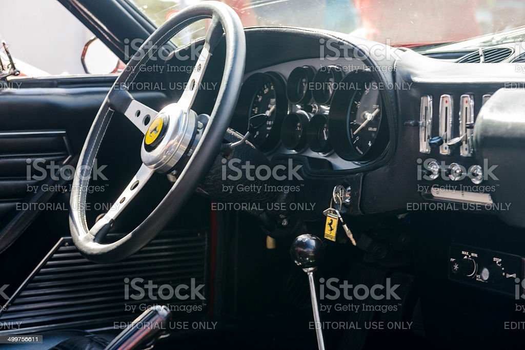 Ferrari 365 GTB/4 Daytona interior stock photo
