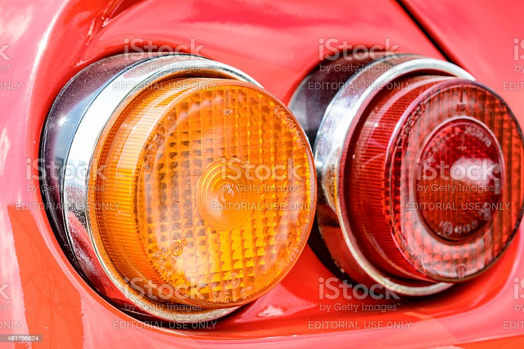 Ferrari 365 GTB/4 Daytona rear lights stock photo
