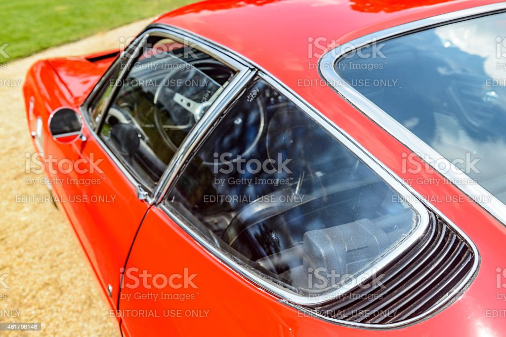 Ferrari 365 GTB/4 Daytona rear side view stock photo