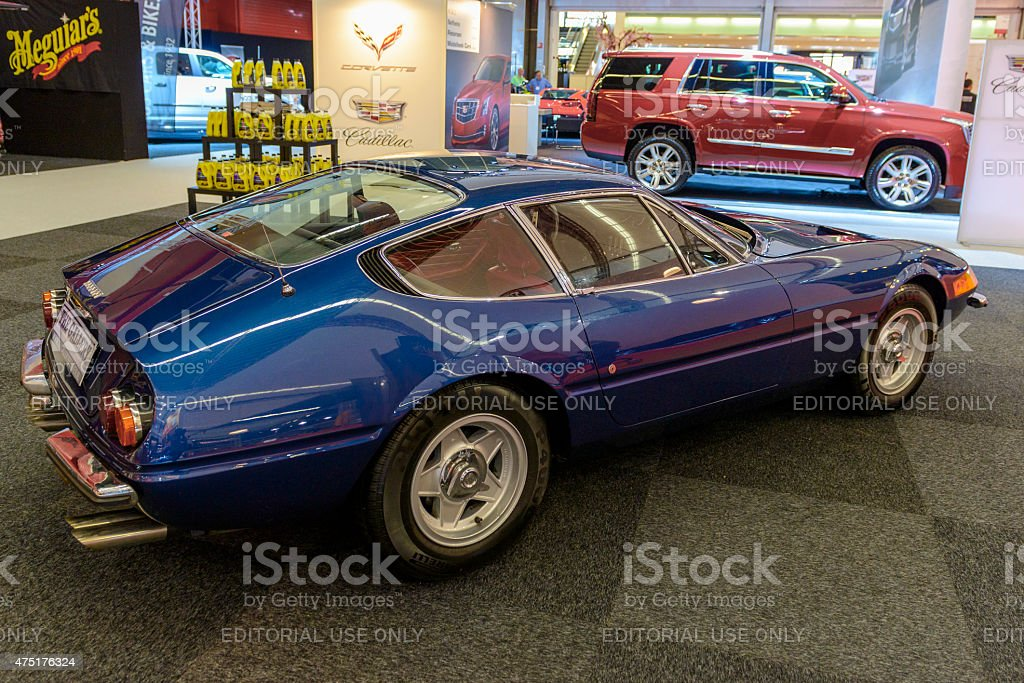 Ferrari 365GTB/4 Daytona classic sports car stock photo