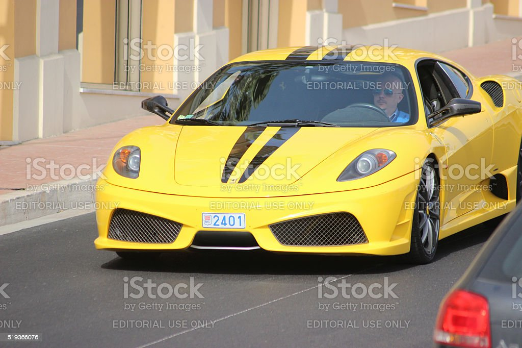 Ferrari 430 Scuderia in Monte-Carlo, Monaco stock photo