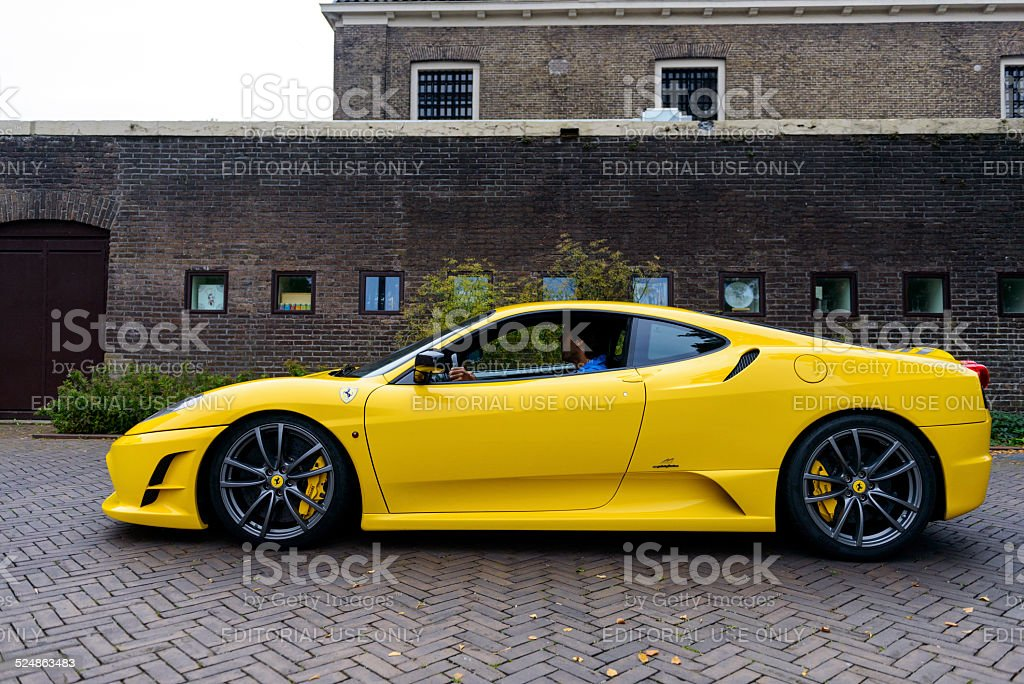 Ferrari 430 Scuderia sports car side view stock photo
