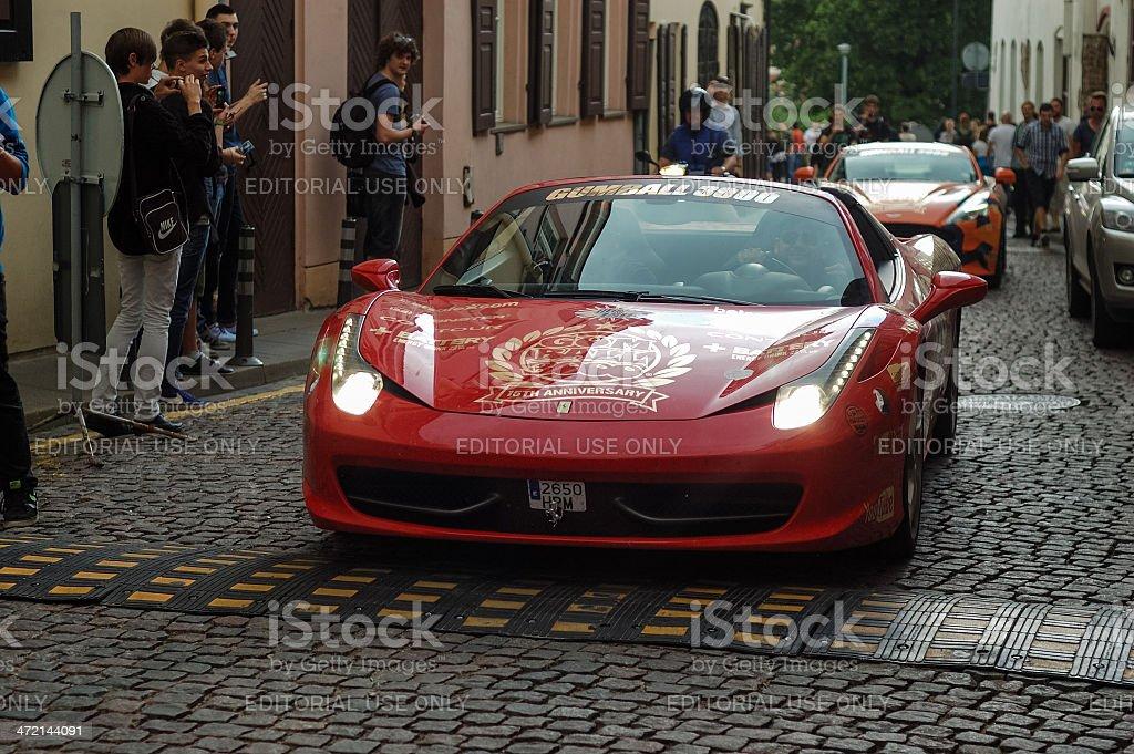 Ferrari 458 at Gumball 3000 event stock photo