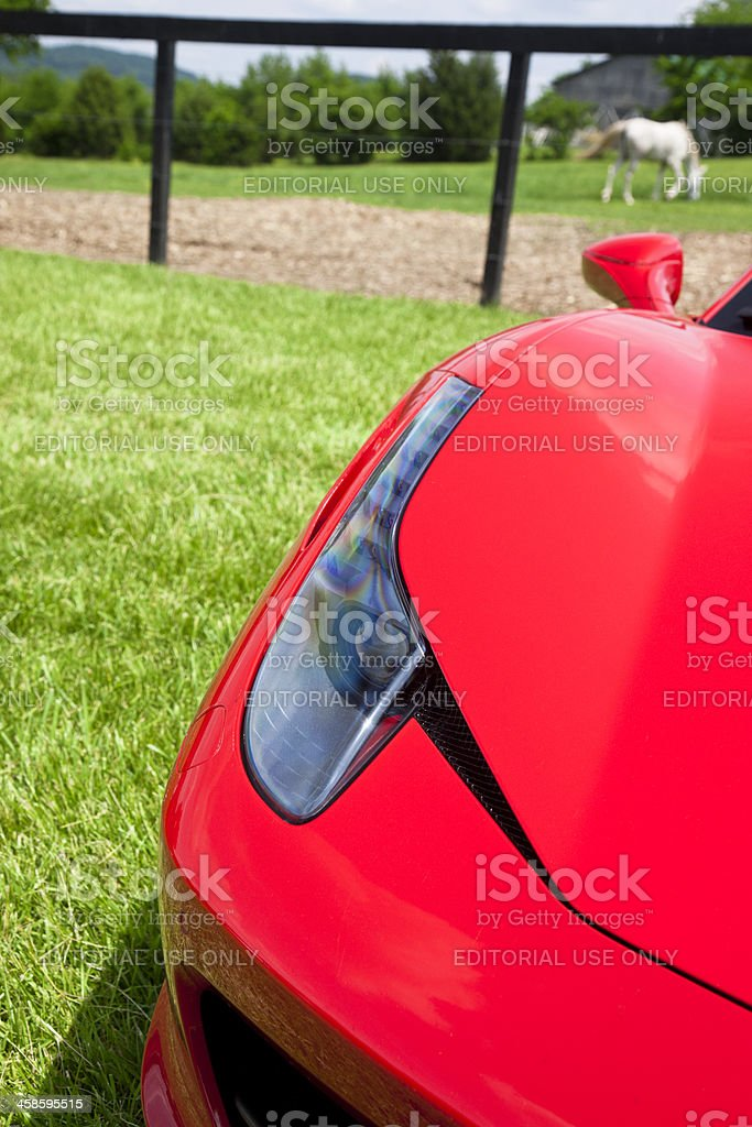 Ferrari 458 Headlight royalty-free stock photo