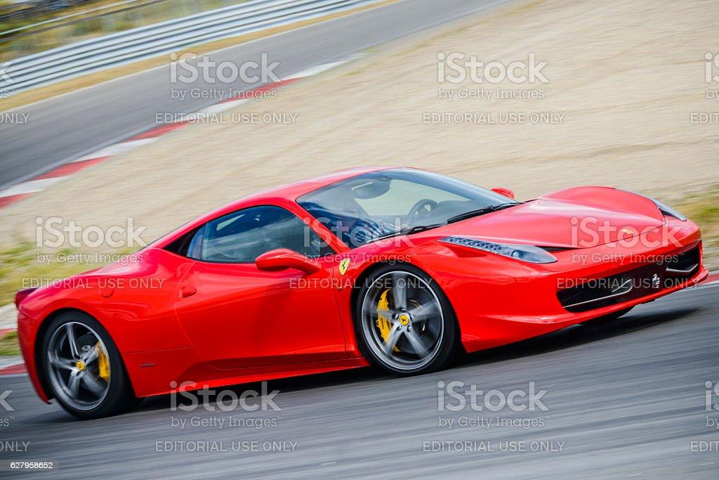Ferrari 458 Italia exclusive V8 Italian sports car stock photo