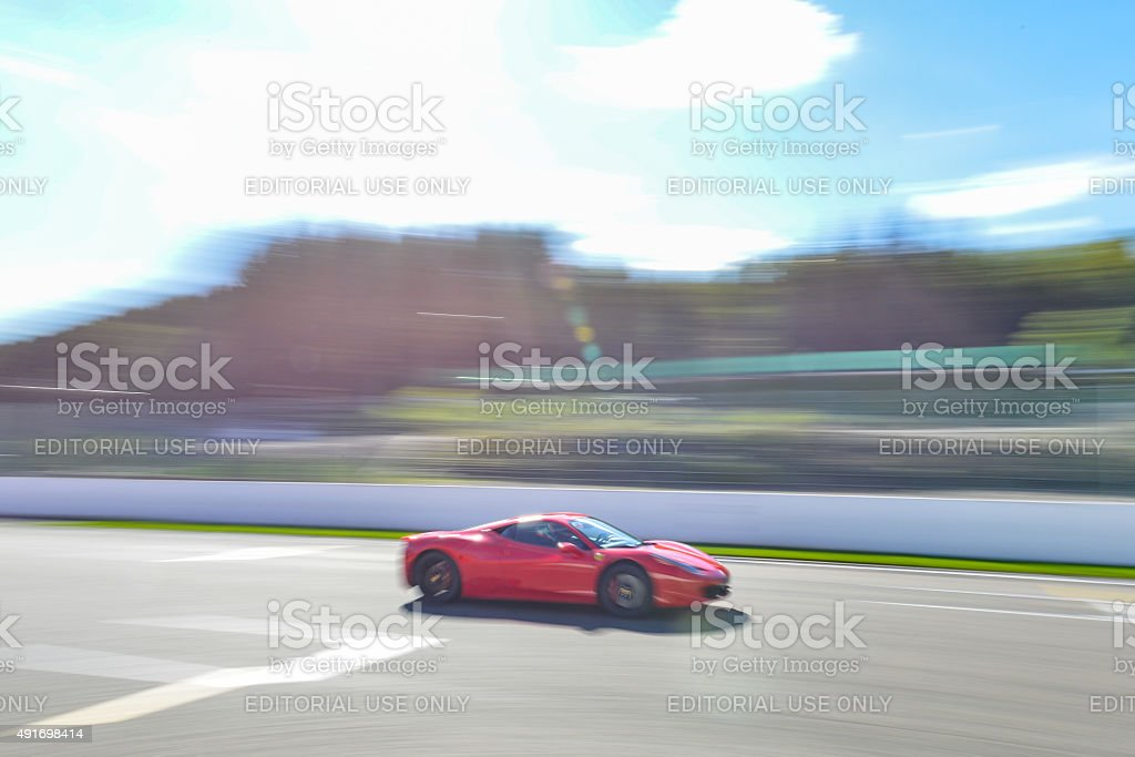 Ferrari 458 Italia sports car stock photo