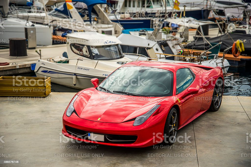 Ferrari 458 Italia. stock photo