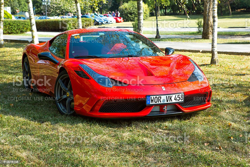 Ferrari 458 Speciale at meeting Top Selection 2016 stock photo
