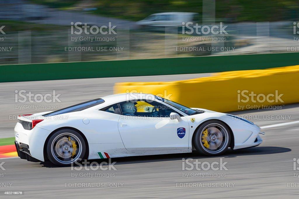 Ferrari 458 Speciale sports car stock photo