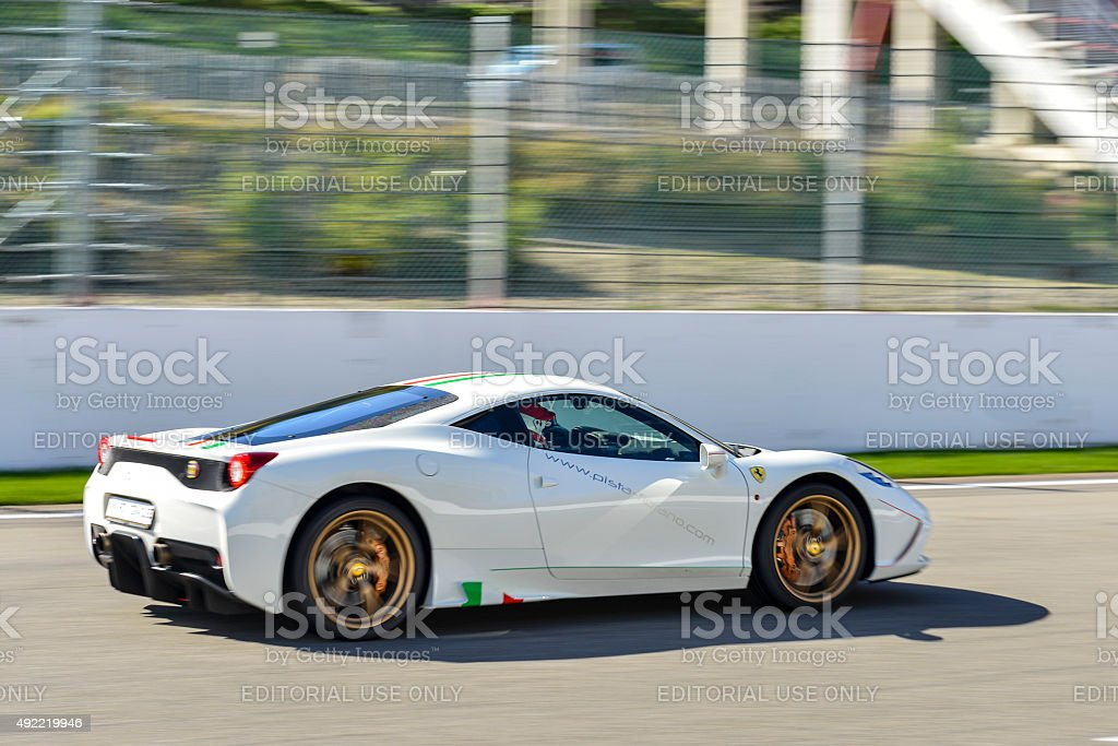 Ferrari 458 Speciale sports car stock photo