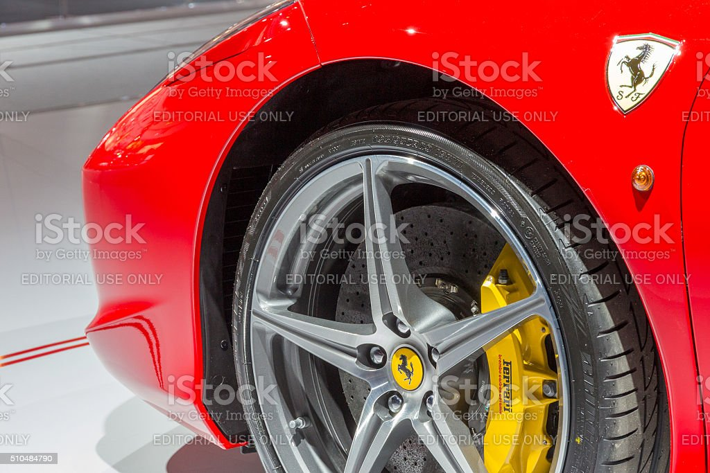 Ferrari 458 Spider close up stock photo