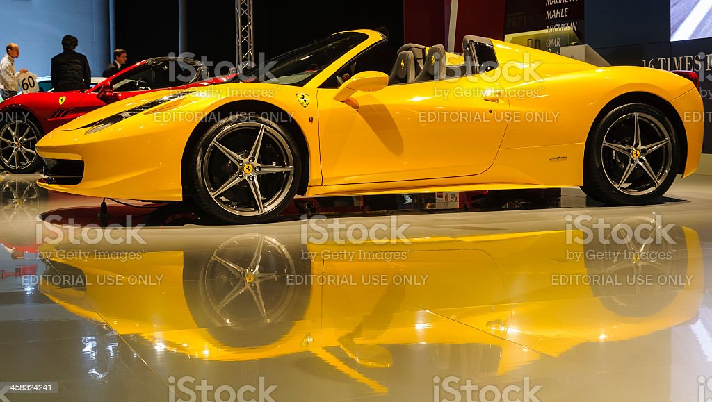 Ferrari 458 Spider royalty-free stock photo