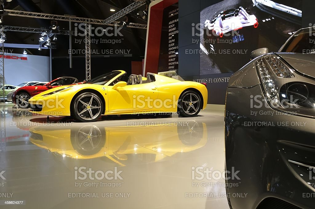 Ferrari 458 Spider stock photo