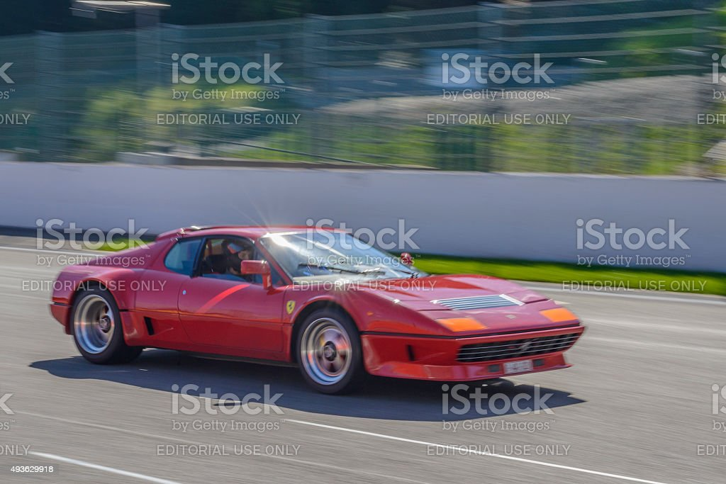 Ferrari 512 BB classic sports car stock photo