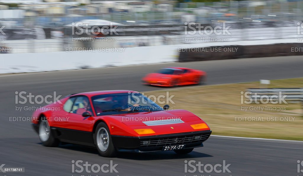Ferrari 512 Berlinetta Boxer classic sports car stock photo