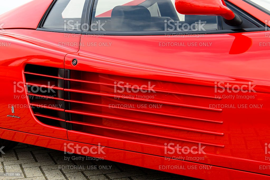 Ferrari 512 TR detail royalty-free stock photo