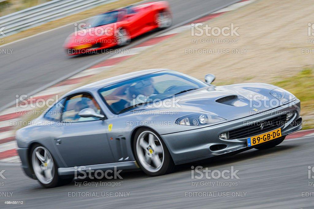 Ferrari 550 Maranello Italian sports car stock photo
