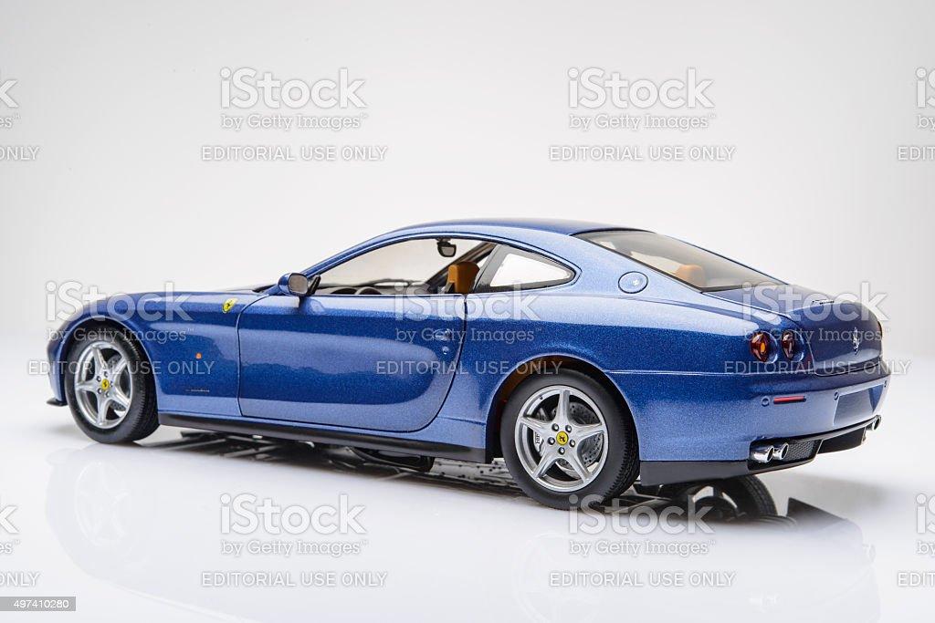 Ferrari 612 Scaglietti sports car model stock photo