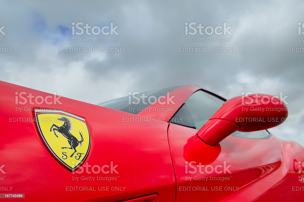 Ferrari California detail stock photo