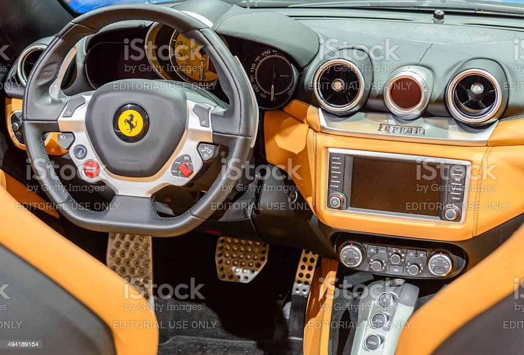 Ferrari California T convertible sports car stock photo