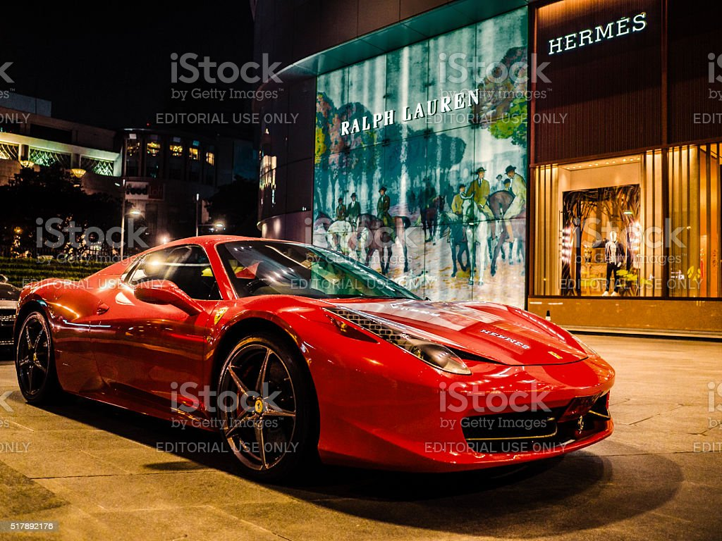 Ferrari car Bangkok Thailand stock photo