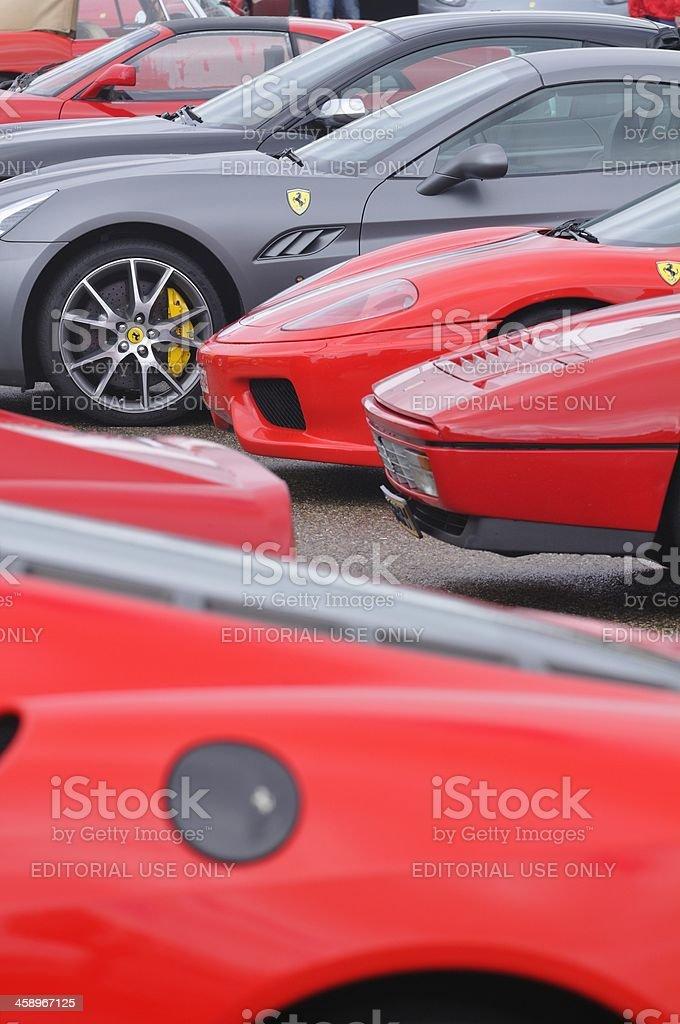 Ferrari Collection stock photo