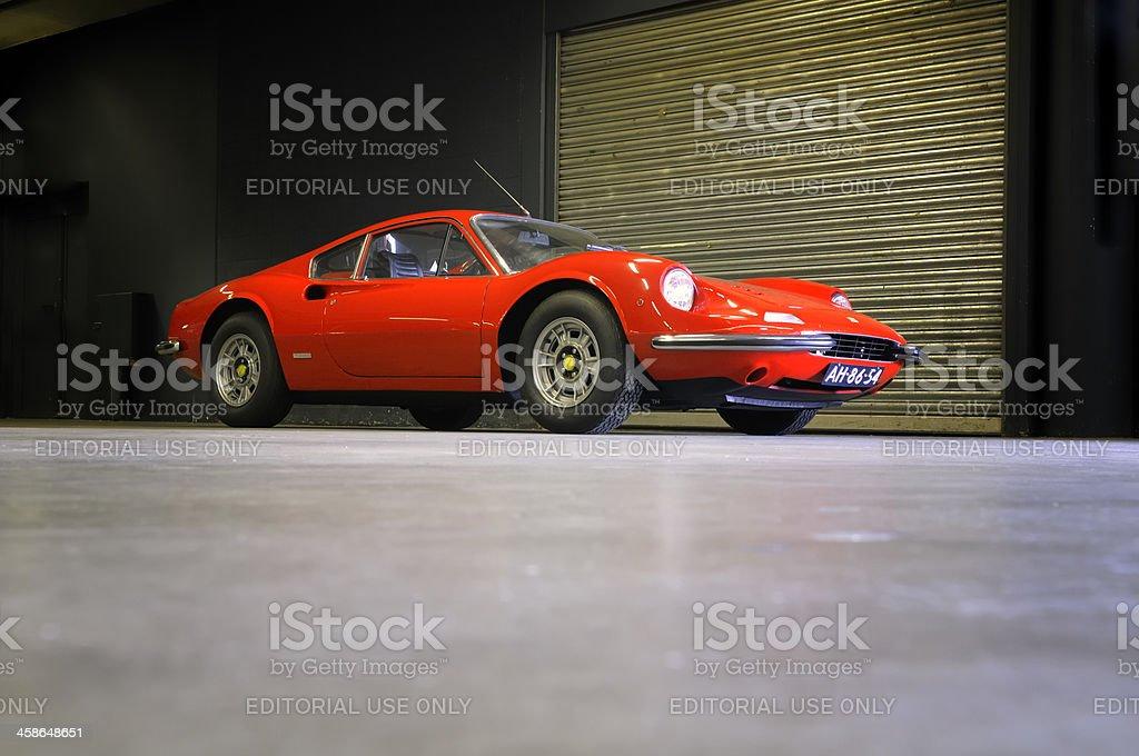 Ferrari Dino 246 GT classic sports car stock photo