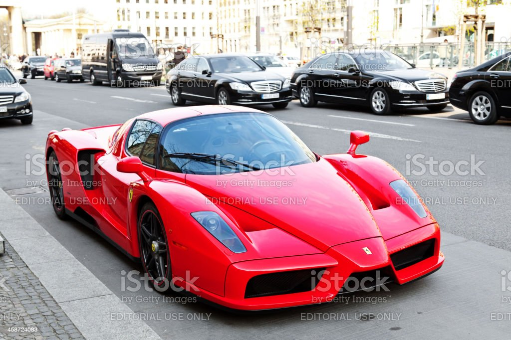 Ferrari Enzo in the streets of Berlin stock photo