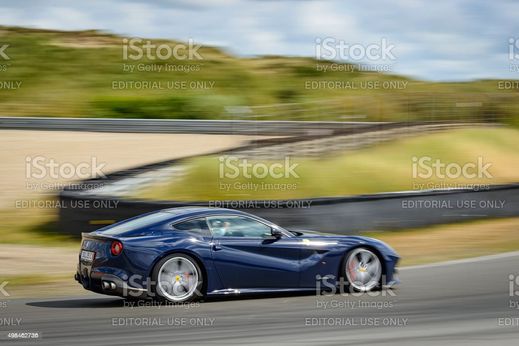 Ferrari F12 Berlinetta Gran Turismo sports car stock photo