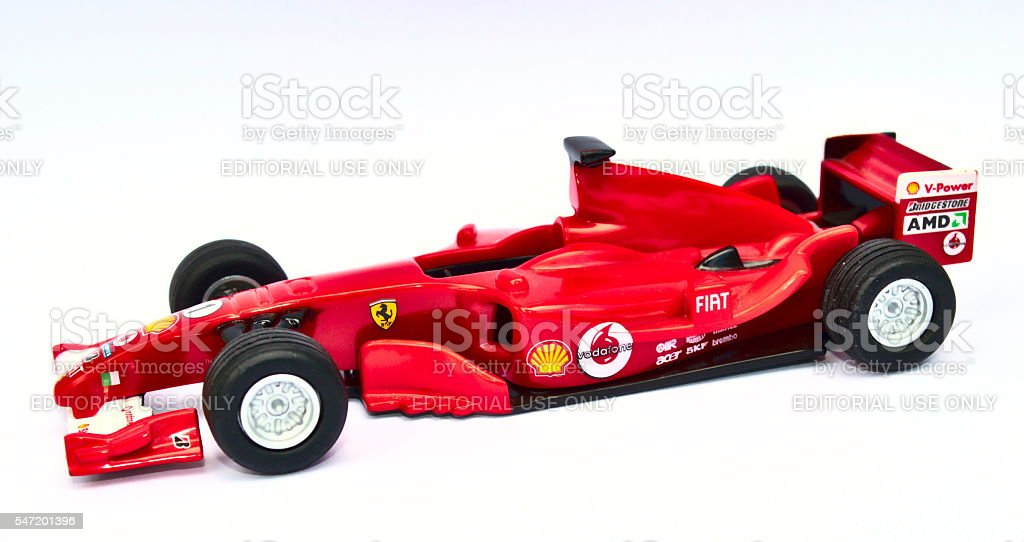 Ferrari F2005 Model Toy Car stock photo