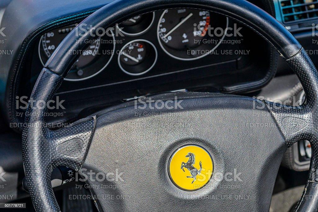 Ferrari F355 dashboard stock photo