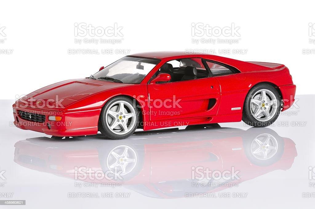 Ferrari F355 model car stock photo