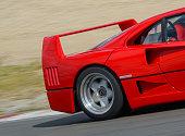 Ferrari F40 1980s Italian supercar at high speed