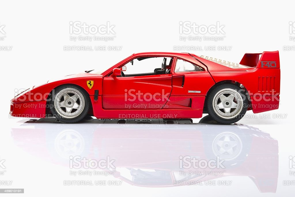 Ferrari F40 model car stock photo