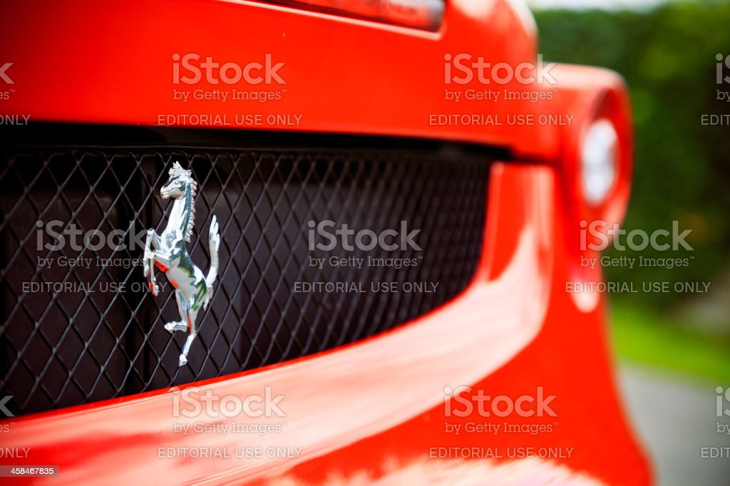 ferrari f430 closeup stock photo